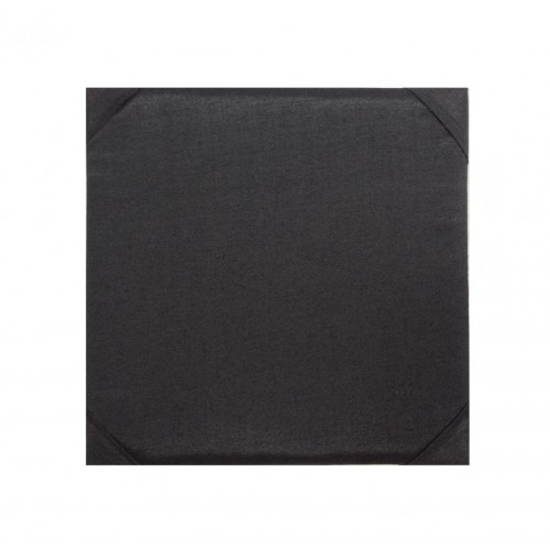 6x6 inches silk pad in black