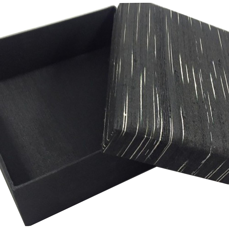 Black silk box