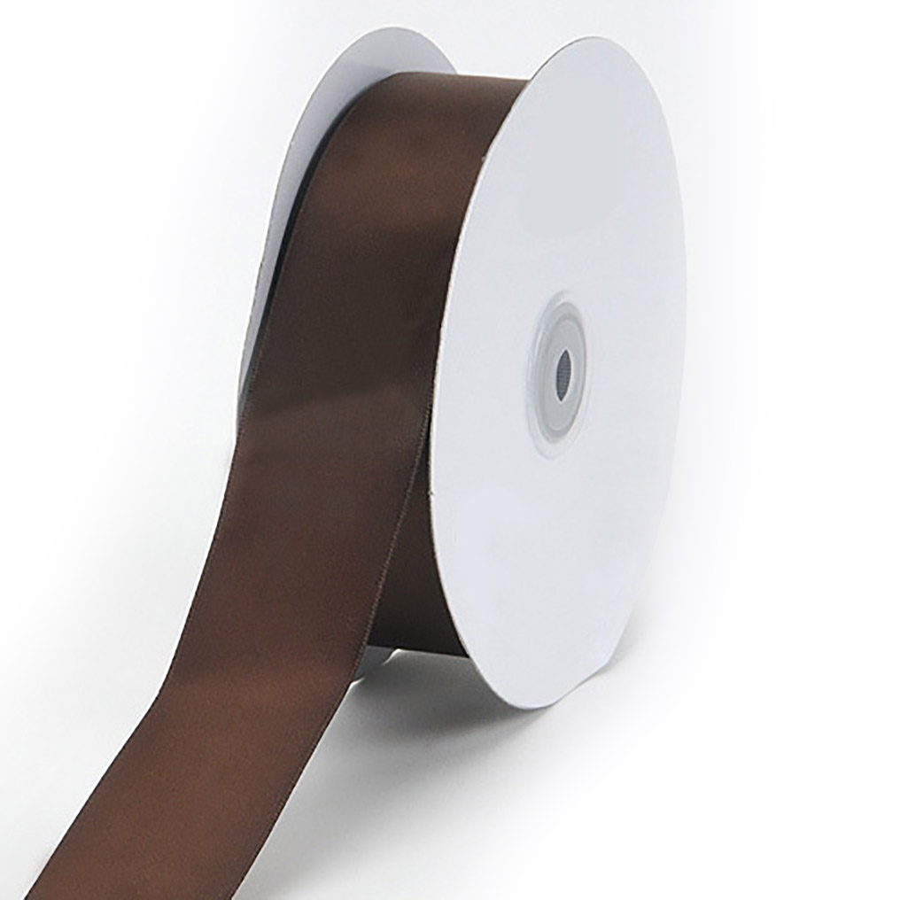 Brown 2 inches wide satin ribbon