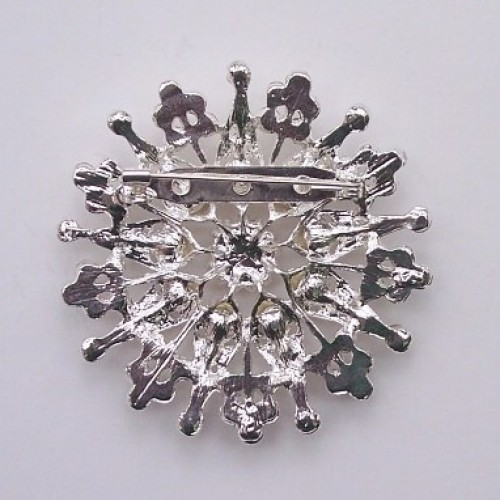 Christmas rhinestone brooch in silver