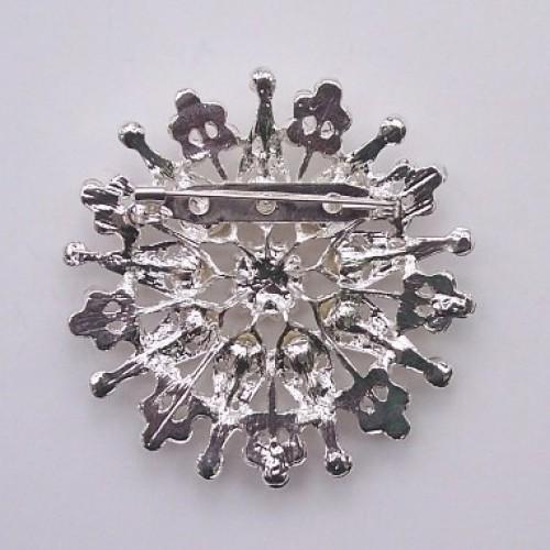 Christmas rhinestone brooch in silver