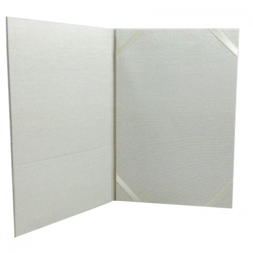 Ivory pocket folio invitations