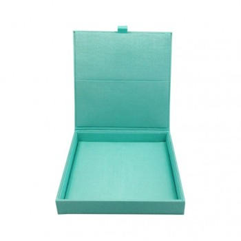 Aqua blue silk box