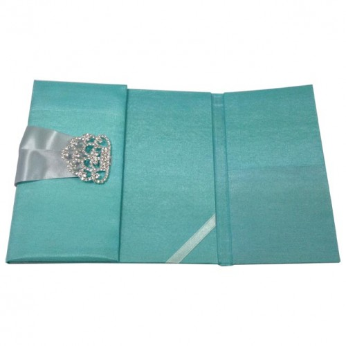 Picture view one side open of silk folio