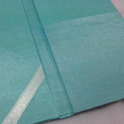 View of pocket inside the silk folio
