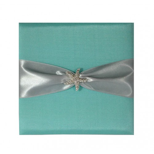 Small Ivory 5565 Silk Pocket Fold Invitation Luxury Wedding