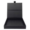 Black card-stock wedding invitation boxes