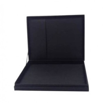 Hinged lid wedding box with pocket for invitations