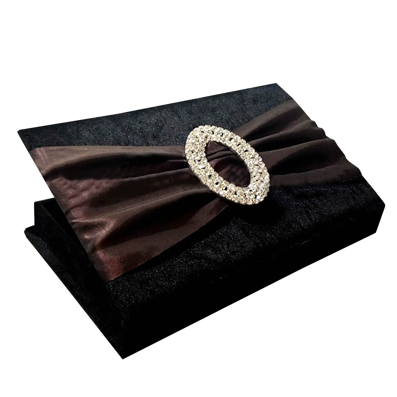 Luxury velvet wedding invitation box