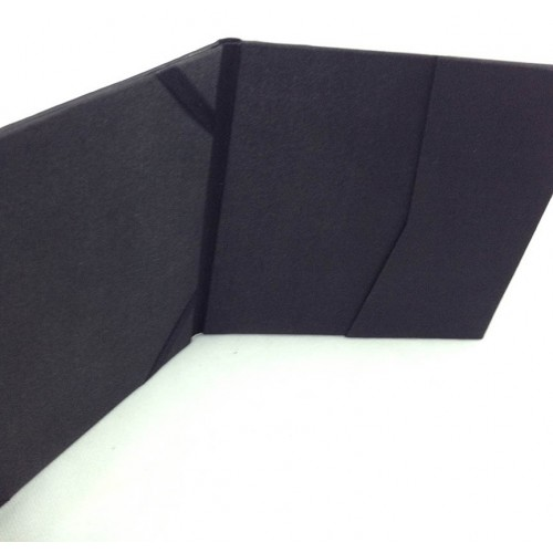 Detail view of pockets and invitation card holder