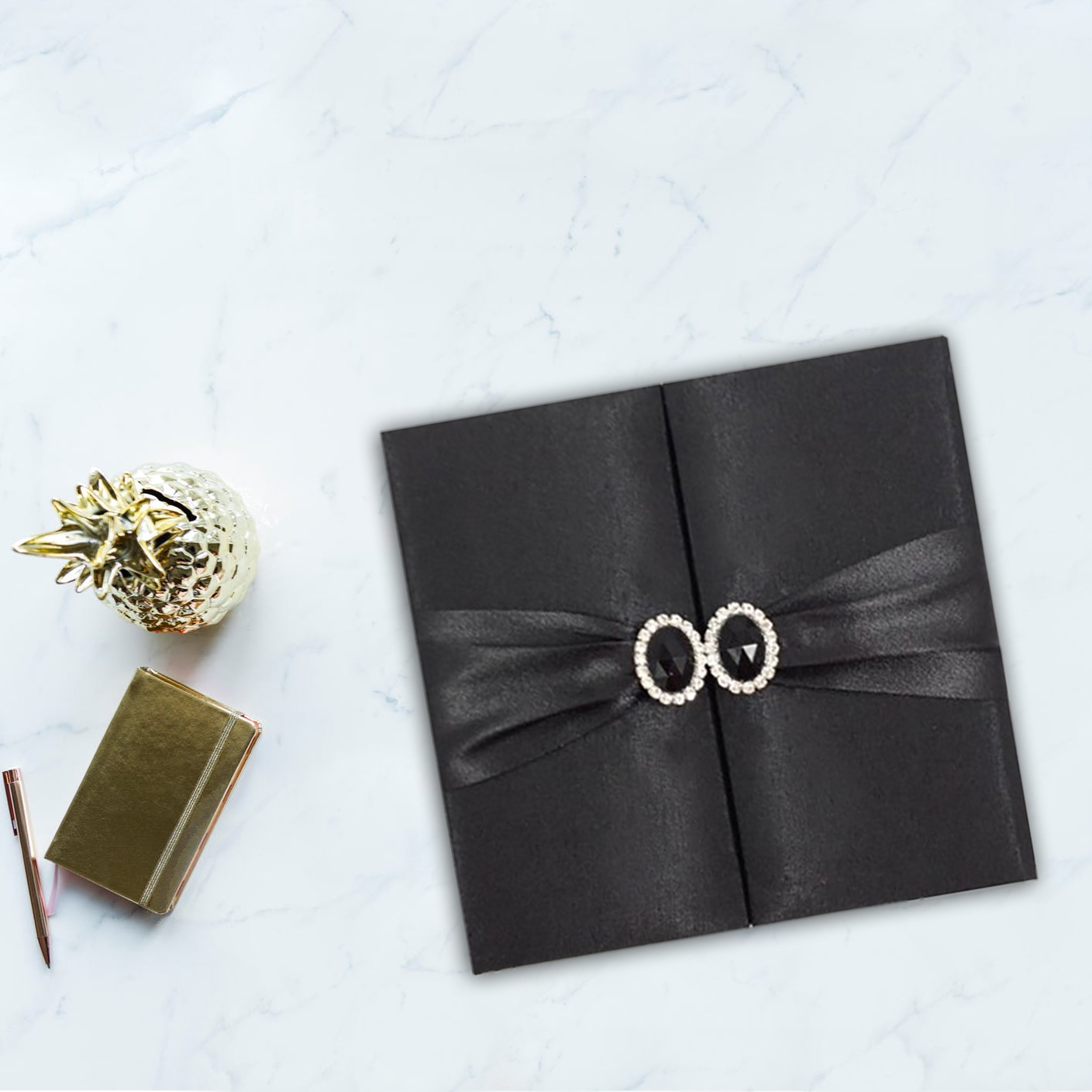Handcrafted silk invitation for luxury wedding cards