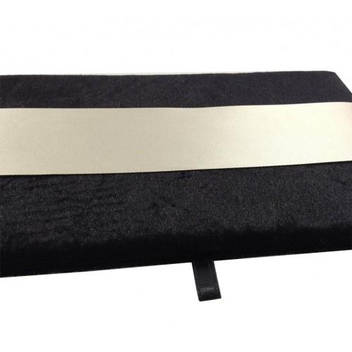 Black 6x8 inches velvet insert for invitations