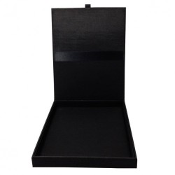 Black silk wedding invitation box