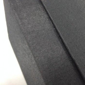 Detail picture of black silk box