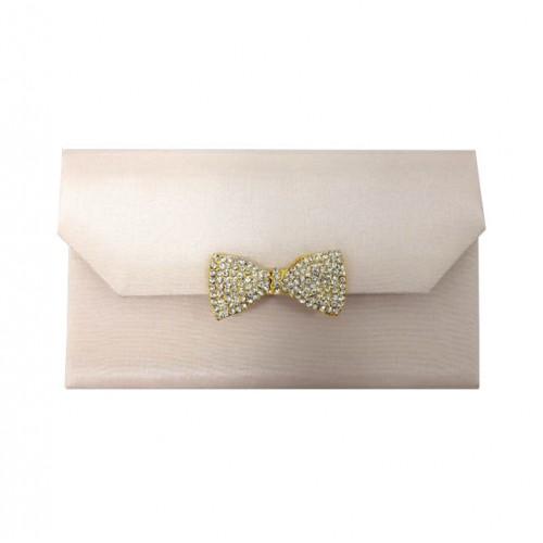 Blush pink luxury invitation folder