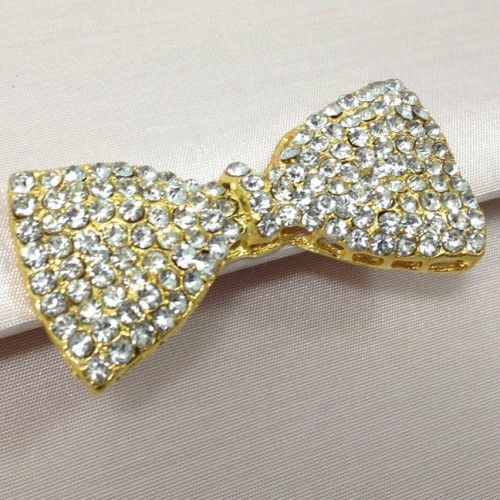 Large golden crystal bow