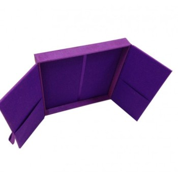 Violet gatefold wedding invitation box