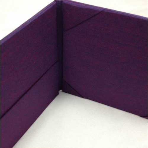 Purple silk invitation