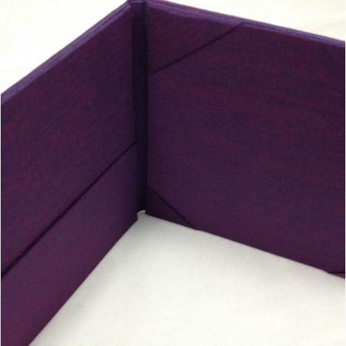 Purple silk invitation