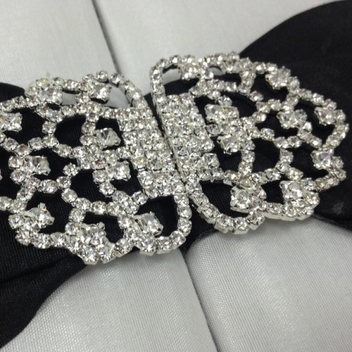 Rhinestone clasp on wedding box