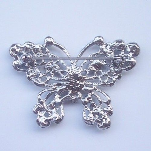 Butterfly brooch back with stitch pin lock