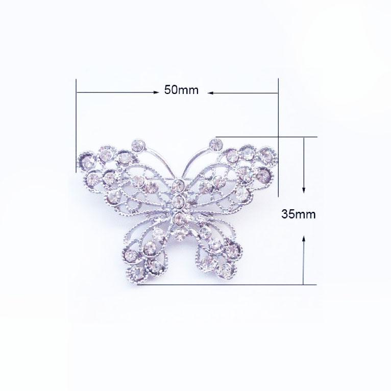 Silver butterfly brooch