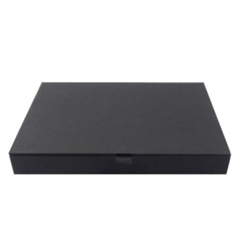 Hinged lid paper box in black