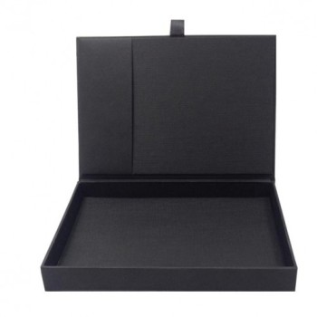Black card stock invitation box