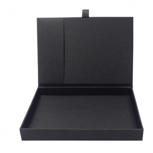 Card Stock Invitation Box Featuring Black Art Paper
