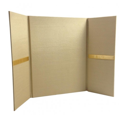 gold silk invitation folio