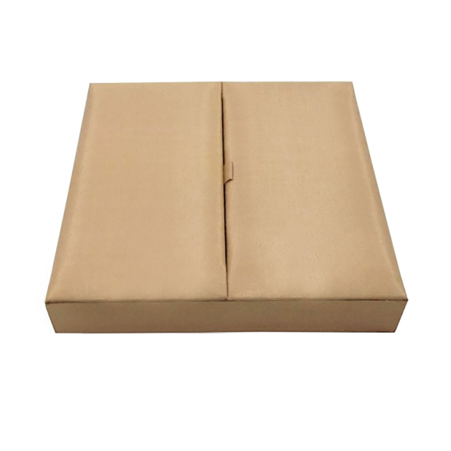 Plain two door silk wedding invitation box