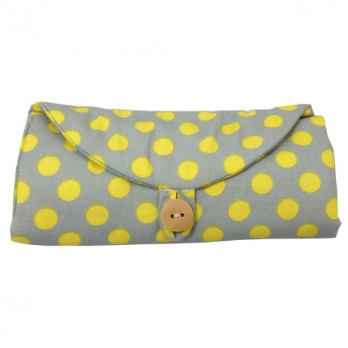 Polkadot travel jewelry roll