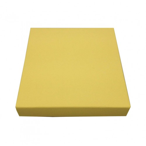 Yellow cream mailing box for wedding invitations