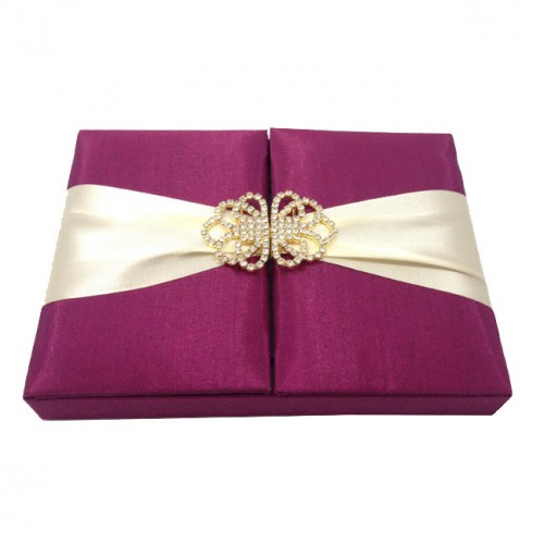 magenta invitation box