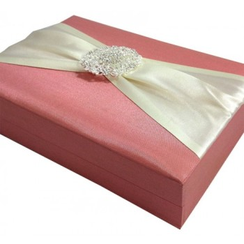 Side view of luxury wedding invitation box