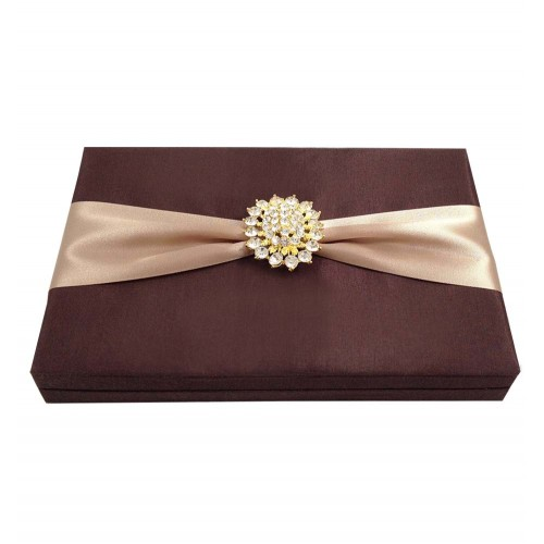 Chocolate brown invitation box