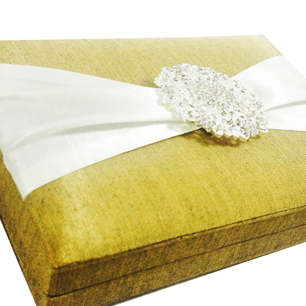 golden wedding box