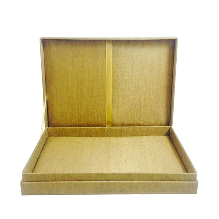 golden silk wedding invitation box