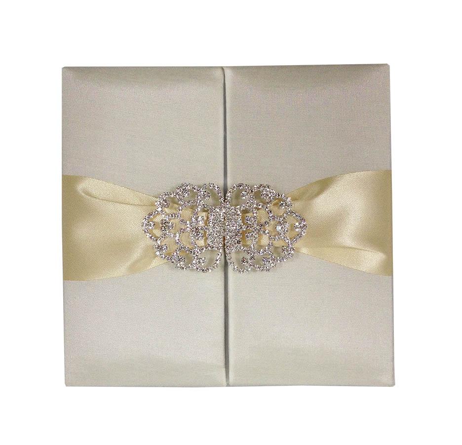 Embellished ivory wedding invitation luxury wedding invitations luxurious rhinestone monicamarmolfo Gallery