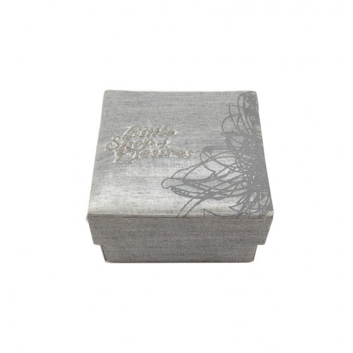 Removable lid silk favor box
