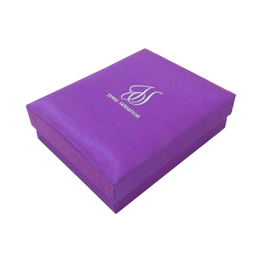embroidered logo silk box for jewellery and gifts