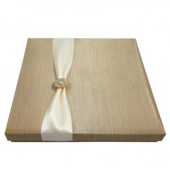 Luxury gold wedding invitation box