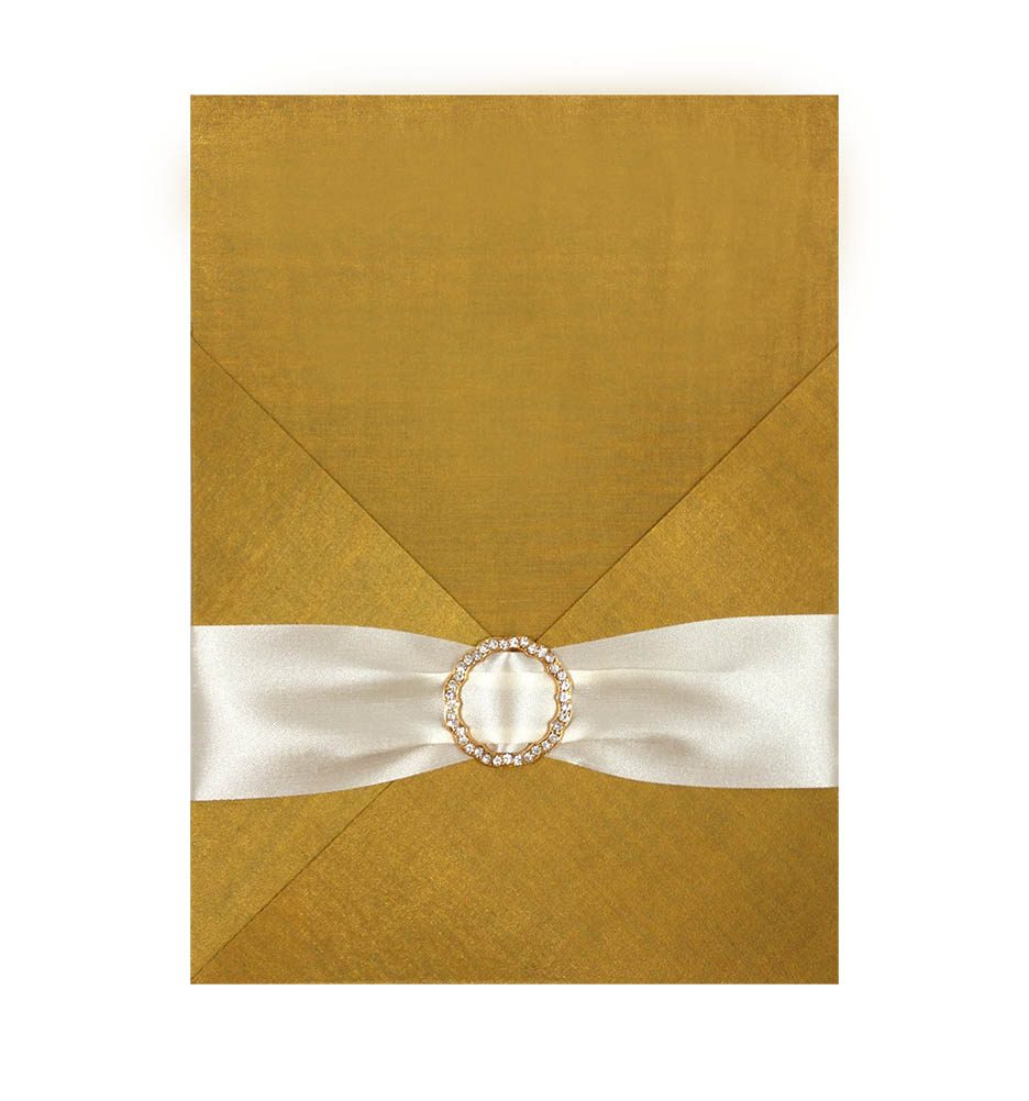 golden silk invitation