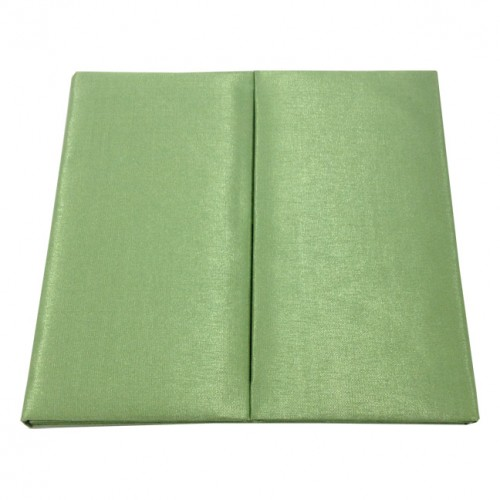 Green silk wedding folio