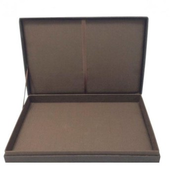 Silk wedding invitation box