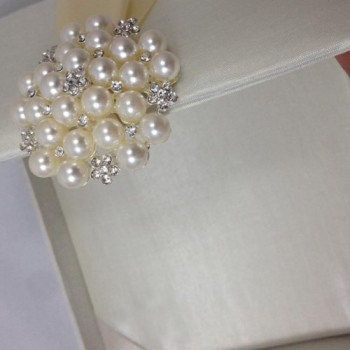 Close-up view of luxury wedding invitation box