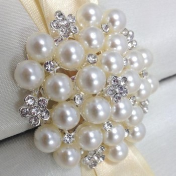 Large pearl brooch embellishment