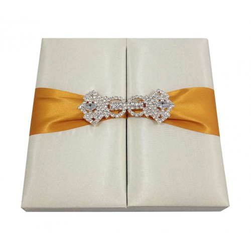 Ivory & Gold Embellished Wedding Invitation Box