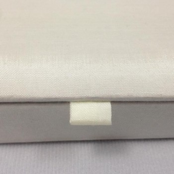 Ivory hinged lid silk invitation box