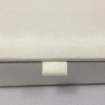 Ivory hinged lid silk invitation box